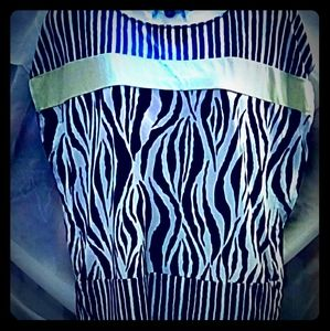 Chicos size 1 zebra and striped blouse